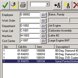 tool crib software, tool crib tracking, cribmaster, tool crib replenishment software